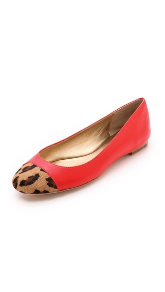 Shop Kate Spade New York online and buy Kate Spade New York Jazz Cap Toe Flats Orange-Camel-Black - Smooth leather Kate Spade New York ballet flats gain graphic appeal with a leopard print haircalf cap toe. Leather sole. Fur: Dyed haircalf (cow), from Brazil. Leather: Cowhide. Imported, Brazil. This item cannot be gift boxed. THIS ITEM CANNOT BE SHIPPED OUTSIDE THE USA. Available sizes: 6,6.5,7,7.5,8,9,9.5,10