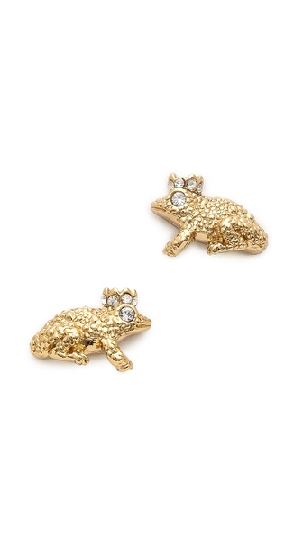 Kate Spade New York Kiss a Prince Frog Stud Earrings