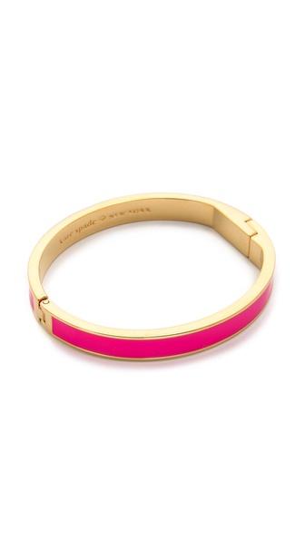 Kate Spade New York Tickled Pink Hinged Bangle Bracelet