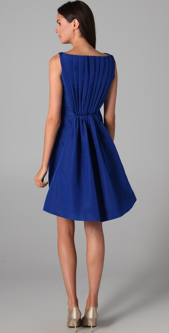 Katie Ermilio Flare Back Cocktail Dress