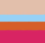 Sky Blue/Magenta/Orange
