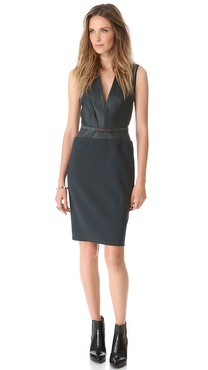 Kaufman Franco Low V Belted Dress
