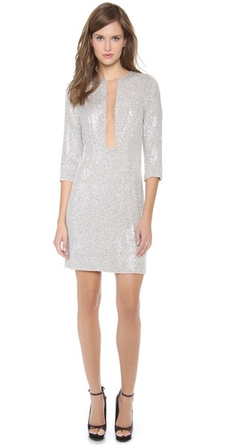 Kaufman Franco Sequins Long Sleeve Dress