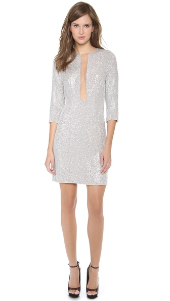 Kaufman Franco Sequins Long Sleeve Dress