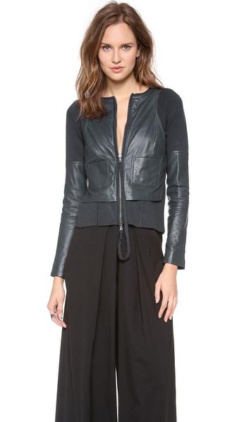 Kaufman Franco Merino Leather Zip Up Jacket