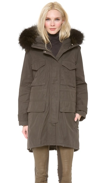 Kaufman Franco Utility Jacket with Fox Fur Trim