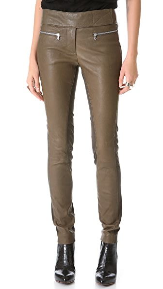 Kaufman Franco Leather & Wool Pants