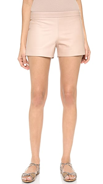 Kaufman Franco Leather Front Shorts