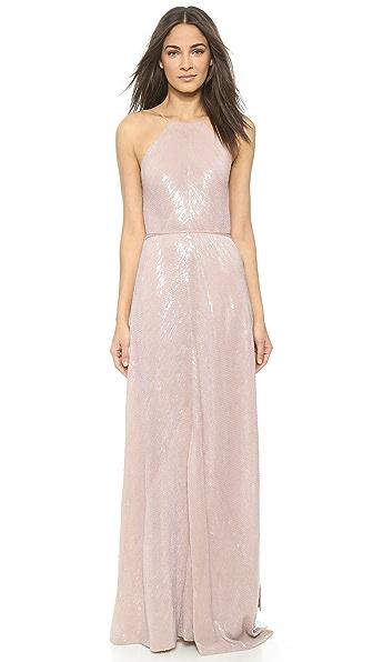 Halter Gown (Beige\/Sand\/Tan)