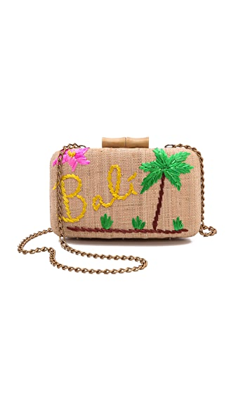 Kayu Bali Embroidered Clutch