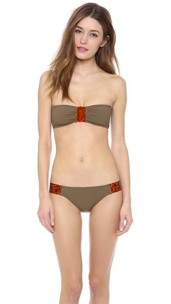 Karla Colletto Tortoise Bandeau Bikini Top