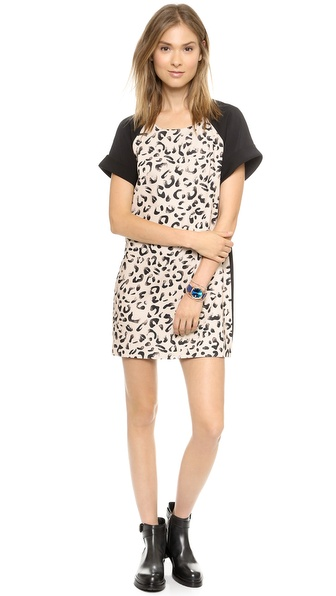 Keepsake Do You Remember Dress - Leopard Print