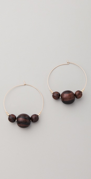 Kristen Elspeth Triple Ebony Hoops