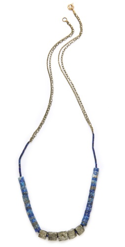 Kristen Elspeth Lapis & Pyrite Necklace