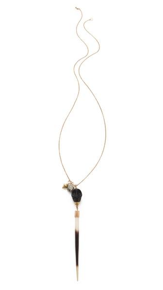 Kristen Elspeth Skull Charm Necklace