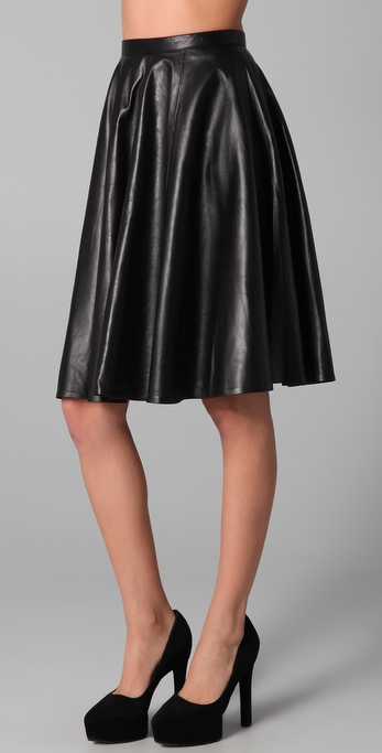 Kelly Bergin Leather Circle Skirt