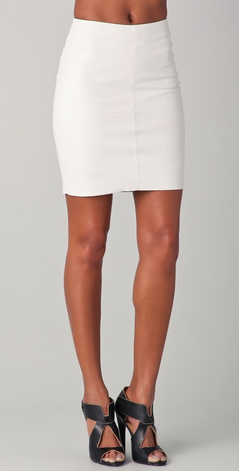 Kelly Bergin Seamed Leather Skirt