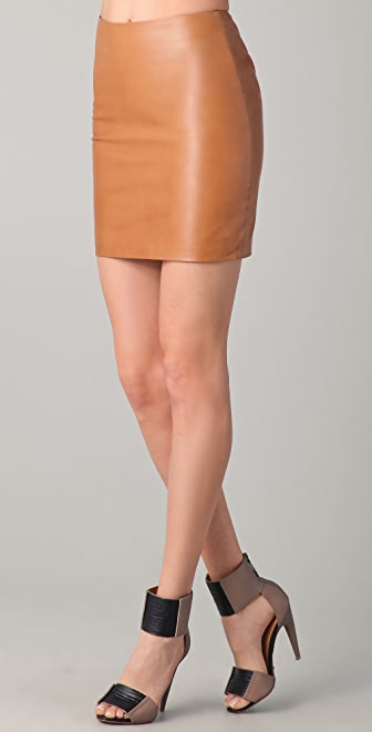 Kelly Bergin Leather Miniskirt