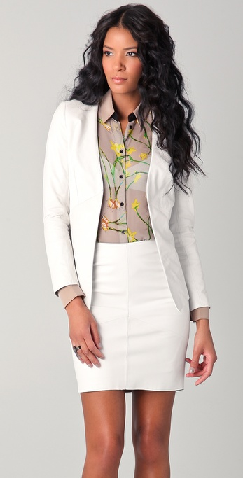 Kelly Bergin Leather Blazer