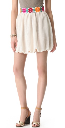 Kenny Embroidered Mini Bubble Skirt