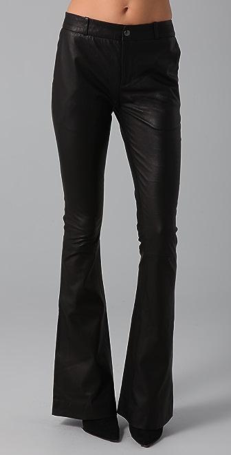 Kevork Kiledjian Flare Leather Pants