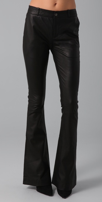 Kevork Kiledjian Flare Leather Pants