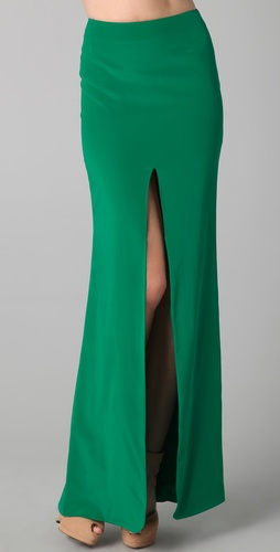 Kevork Kiledjian Long Skirt with Slit