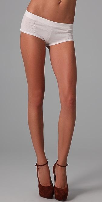 Kiki De Montparnasse Luxe Cashmere Boy Shorts