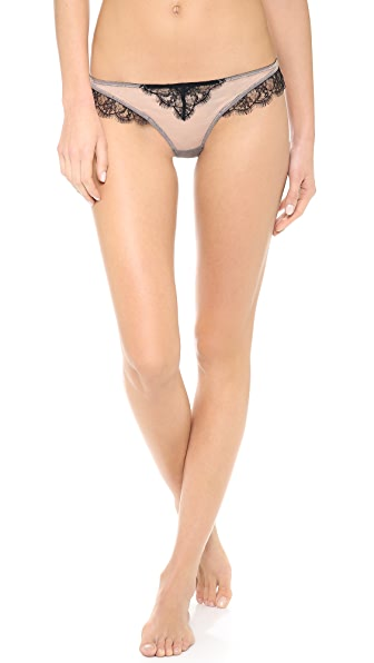 Kiki De Montparnasse Sheer Lace Inset Thong