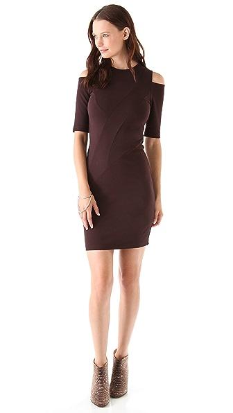 Kimberly Ovitz Cutout Shoulder Dress