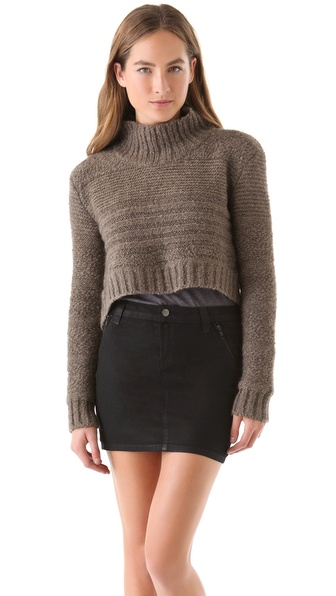 Kimberly Ovitz Chunky Cropped Turtleneck