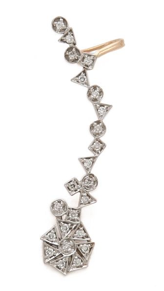 Kismet by Milka Left Diamond Ear Cuff