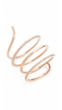 Kismet by Milka Spiral Ring