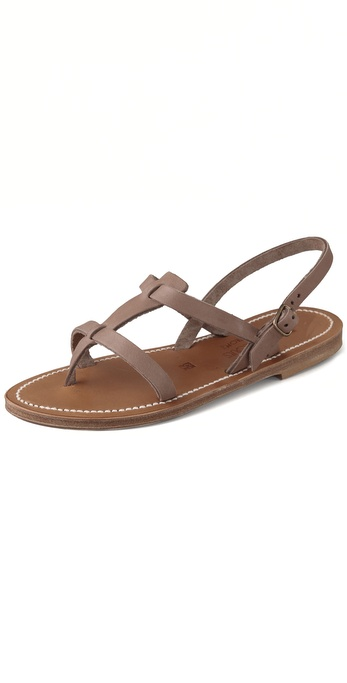 K. Jacques Jaffa Thong Sandals with Double Band