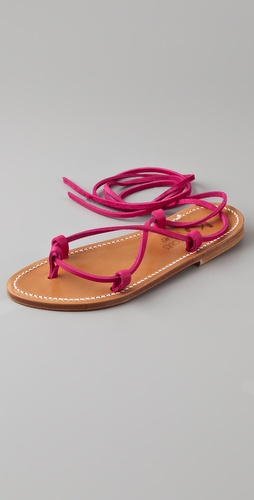 K. Jacques Bikini Ankle Wrap Sandals