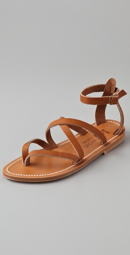 K. Jacques Epicure Crisscross Strap Sandals