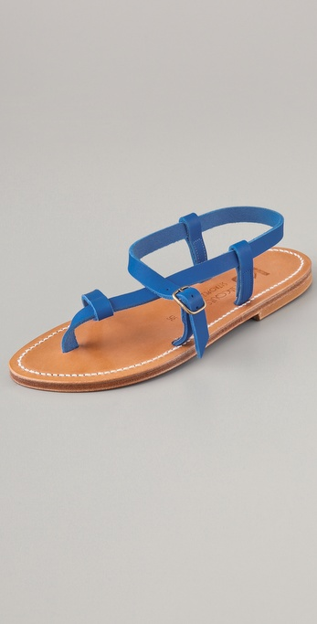 K. Jacques Jival Asymmetrical Thong Sandals