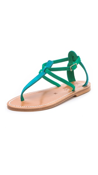 K. Jacques Buffon T Strap Sandals