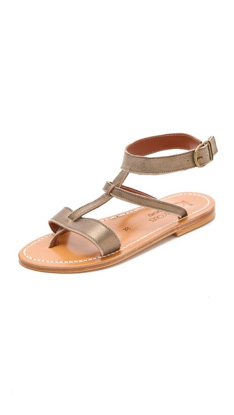 K. Jacques Corvette Metallic Sandals