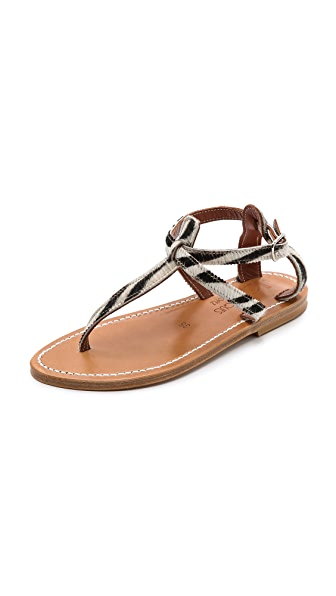 K. Jacques Buffon Haircalf Sandals