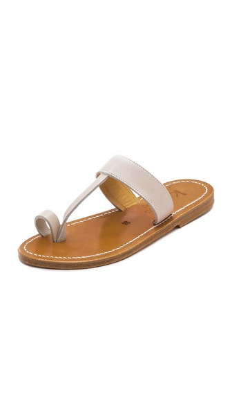 K. Jacques Diane Toe Ring Flat Sandal