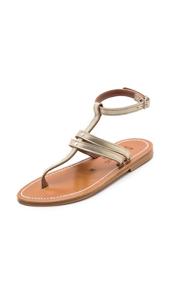 Kupi K. Jacques cipele online i raspordaja za kupiti Crackled leather K. Jacques sandals, styled with a buckled ankle strap. Leather sole. Leather: Calfskin. Made in France. This item cannot be gift boxed. Available sizes: 36