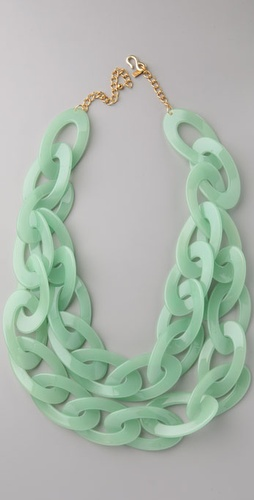 Kenneth Jay Lane Jade Link Necklace
