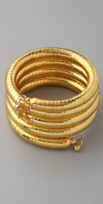 Kenneth Jay Lane Large Snake Coil Bracelet