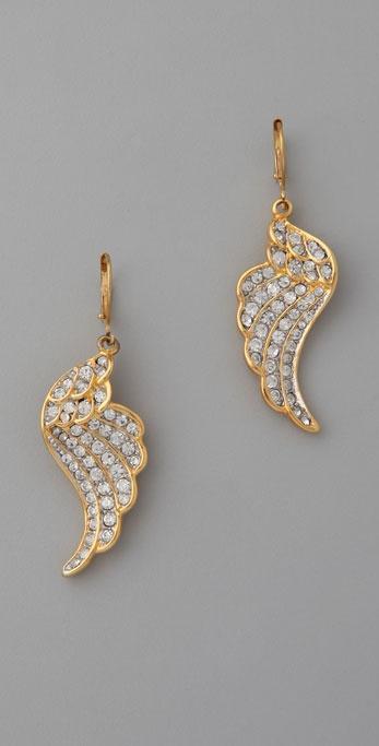 Kenneth Jay Lane Crystal Wing Earrings