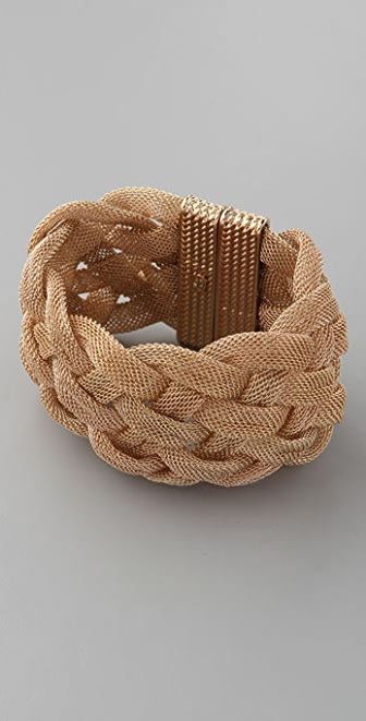Kenneth Jay Lane Braided Mesh Cuff