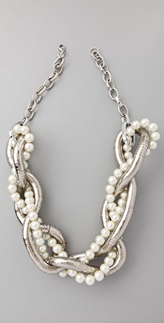 Kenneth Jay Lane Snake Chain Braided Necklace