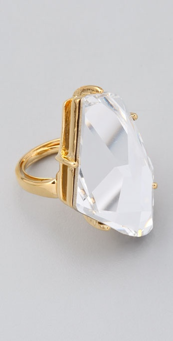 Kenneth Jay Lane Crystal Ring