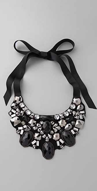 Kenneth Jay Lane Jet Stone Bib Necklace