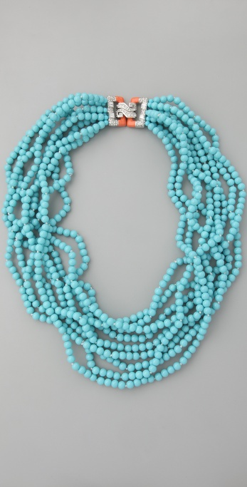 Kenneth Jay Lane Turquoise Clasp Necklace